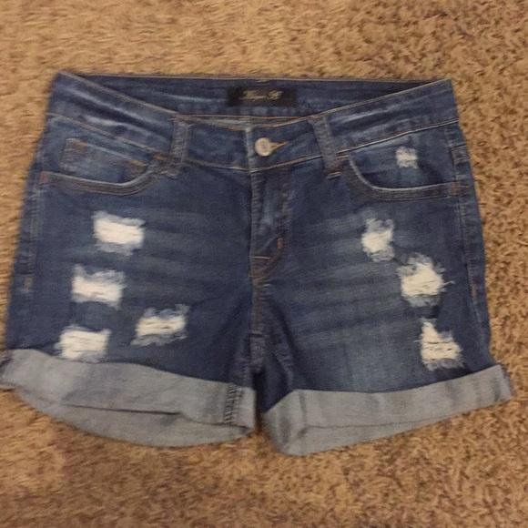 Klique B Pants - Denim Cutoffs
